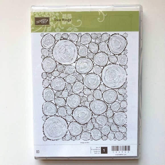 Stampin' Up! Tree Rings Retired Clear Mount Stamp Set - NEW